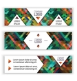 Horizontal banners design templates set Colorful vector image