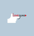 Love gun logo hand and arms vector image