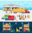 warehouse infographic elements flat design vector image