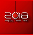 2018 origami happy new year origami merry vector image