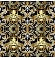 3d gold baroque seamless pattern wallpaper greek vector image vector image