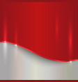 abstract cherry red and silver metallic background vector image vector image