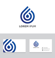 Abstract logo brand icon business card template