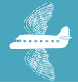 airplane with bird wings vector image