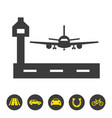 airport icon on white background vector image