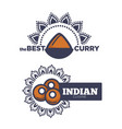 best curry indian cuisine poster with sauce vector image vector image