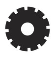 black silhouette of pinion with big teeths vector image