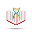 book school open and dna vector image vector image
