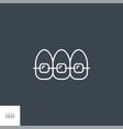 braces line icon vector image