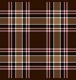 brown red tartan plaid pattern vector image vector image