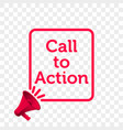 call to action message quote megaphone icon vector image vector image