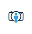 camera job logo icon design vector image