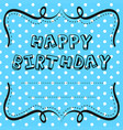 card template design for birthday vector image