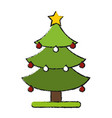 christmas tree symbol vector image vector image