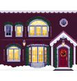 christmas windows vector image