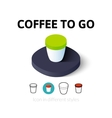 Coffee to Go icon in different style vector image