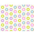 colorful donuts pattern vector image vector image