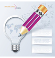 Creative infographic template with pencil and ligh