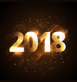 creative shiny happy new year 2018 golden vector image vector image