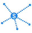 dotted financial links grunge icon vector image vector image