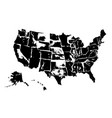 drawing art map of united states of america spot