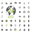 eco planet icon eco and alternative energy vector image