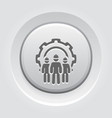 engineering team icon three men and cog wheel vector image