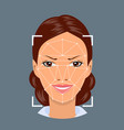 face recognition technology vector image
