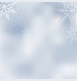 falling shining snow or snowflakes vector image vector image