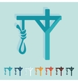 Flat design gallows vector image vector image