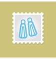 Flippers stamp vector image vector image
