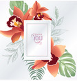 floral greeting or invitation card template vector image vector image