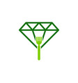 fork diamond logo icon design vector image vector image