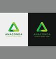 geometric anaconda logo icon vector image vector image