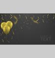 golden balloons background vector image vector image