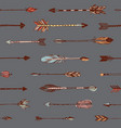 hand drawn arrows patten vector image