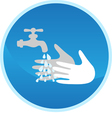 Hand washing sign vector image