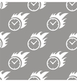 Hot clock seamless pattern vector image vector image