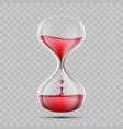 icon hourglass with blood world blood donor day vector image