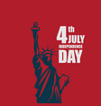 independence day 4th july template design vector image