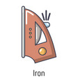 iron icon cartoon style vector image