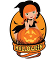 Little sexy witch Halloween vector image