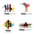 Logo Yoga 2 vector image vector image