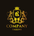 luxury letter r logo vector image vector image