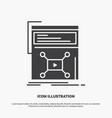 marketing page video web website icon glyph gray vector image