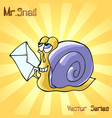 mr snail with letter vector image vector image