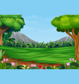 panoramic beautiful park landscape with mountain b vector image vector image