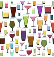 pattern of different glasses vector image