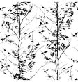 Pattern with trees silhouettes vector image