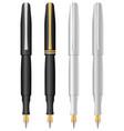 pens set vector image vector image